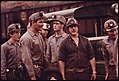 Group of Miners Waiting to Go to Work on the 4 P.M. to Midnight Shift at the Virginia-Pocahontas Coal Company Mine -4 near Richlands, Virginia 04-1974 (3906401299).jpg
