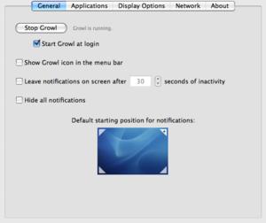 Growl (software) - Growl Pref Pane screenshot