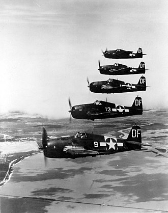 Flying Leathernecks - Grumman F6F Hellcats drawn from U.S. reserves were used extensively in Flying Leathernecks.