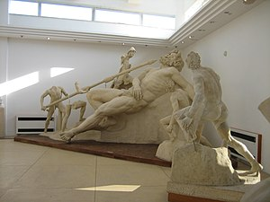 Polyphemus - The blinding of Polyphemus, a reconstruction from the villa of Tiberius at Sperlonga, 1st century AD