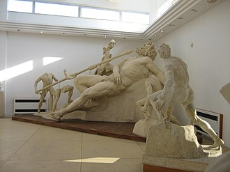 Sperlonga - The central group of the Sperlonga sculptures, with the Blinding of Polyphemus