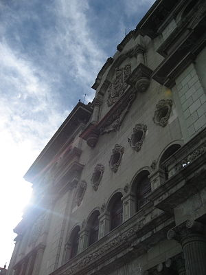 National Palace (Guatemala) - A view of the palace from its front courtyard