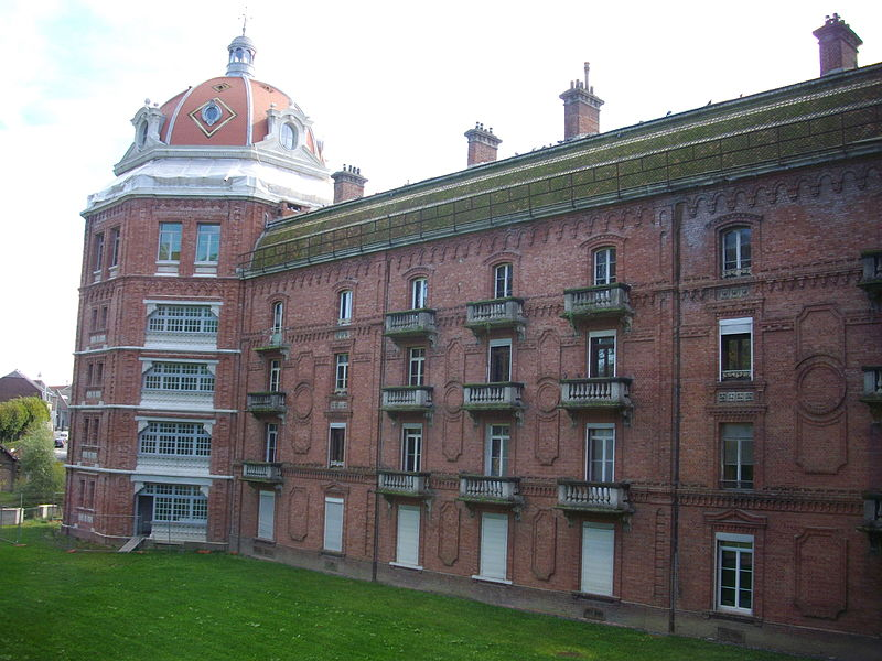 """""""Familistère"""" of Guise (Aisne, France): eastern wing of the social palace, northern side"""