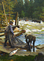 Gunnar Berndtson - Salmon Fishers at the Langinkoski Rapid.png