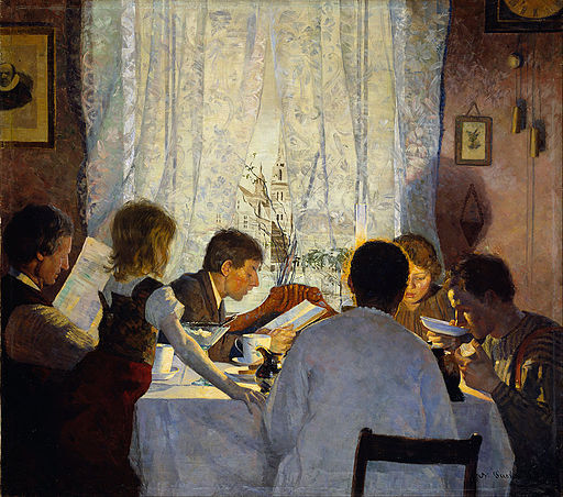 Gustav Wentzel - Breakfast II. The Artist's Family - Google Art Project