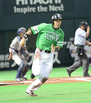 Yuki Yanagita - Yanagita with the Fukuoka SoftBank Hawks
