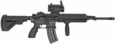 The HK416F is the new service rifle of the French military.