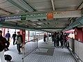 HK Hung Hom 香港理工大學 PolyU Hong Chong Road footbridge interior visitors 7-Feb-2013.JPG