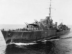 HMAS Warramunga off New Guinea during 1944