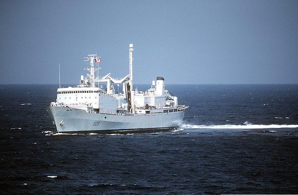 HMCS Protecteur during Operation Friction