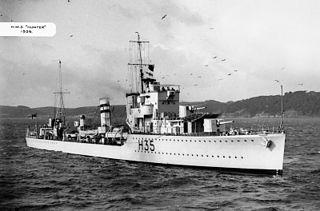HMS <i>Hunter</i> (H35) 1936 H-class destroyer