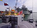 HMS Illustrious at Portsmouth from the deck of JDS Umugiri - geograph.org.uk - 1322119.jpg