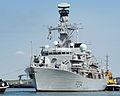 HMS Iron Duke Leaving Portsmouth MOD 45158578.jpg