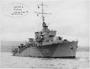 HMS Pelorus (J291) - Image: HMS Pelorus 1943 IWM FL 10360