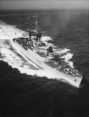 HMS Zest (R02) - Zest after her conversion to a Type 15-class frigate, 1958 (IWM)