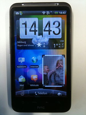 English: HTC Desire HD Smartphone