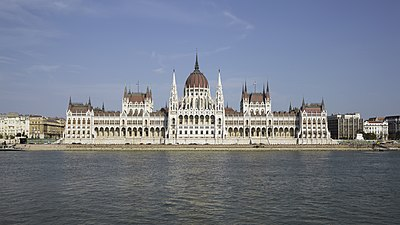 The Hungarian Parliament, completed in 1904.