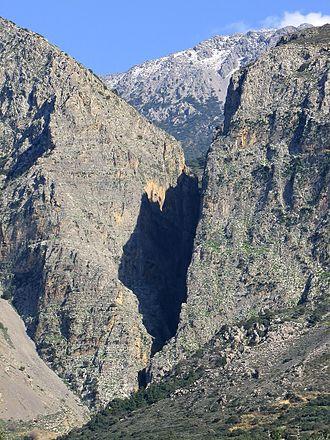 Ha Gorge - The V shaped exit of Ha Gorge