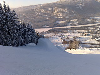 Hafjell ski resort in Norway
