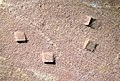 Halite salt casts in hematitic mudshale (Twist Gulch Formation, Middle Jurassic; float near small copper mine in Salina Canyon, Utah, USA) 12.jpg