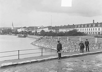 Hamar - View of Hamar in the 1890s
