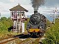 Hammersmith Signal Box & no.73129 Class 5 Steam Loco (6159515921) (4).jpg