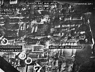 Bach Mai Airfield - Image: Hanoi Bach Mai Airfield bomb damage assessment