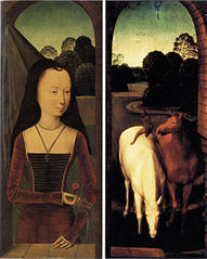 Former Diptych, split and held in two museums