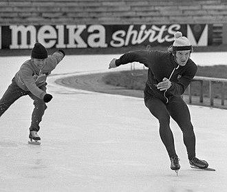 Hans van Helden - Hans van Helden with physical trainer Henk Gemser in 1975