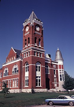 Former Haralson County courthouse in Buchanan, now the Buchanan-Haralson Public Library