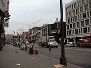125th street in Harlem, Apollo theater in the center