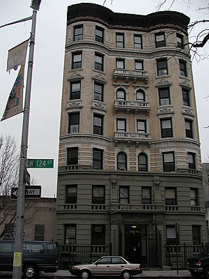 Marcus Garvey Park - Apartment building on 124th Street facing Marcus Garvey Park