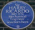 Harry Ricardo 13 Bedford Square blue plaque.jpg