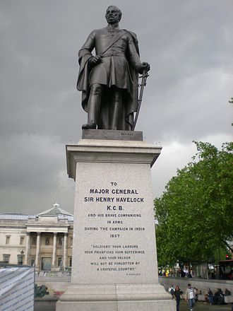 Regent's Park College, Oxford - The statue of General Henry Havelock in Trafalgar Square