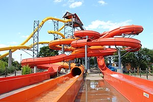 Hawaiian Falls - The Pipeline water slide ride
