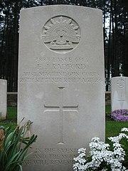 Headstone Lance Cpl E J Radford 3438