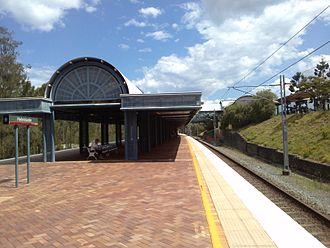 Gold Coast railway line - Helensvale railway station, 2012