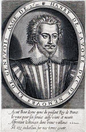 Henri I, Duke of Nemours - Image: Henri Ier de Savoie, duc de Nemours