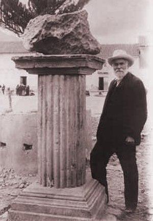 Henry Augustus Ward - Ward in 1906 with the Santa Rosa meteorite
