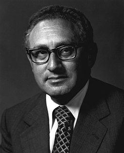 When it was announced that Henry Kissinger was to be awarded the Peace Prize, two of the Norwegian Nobel Committee members resigned in protest. Henry A. Kissinger, U.S. Secretary of State, 1973-1977.jpg