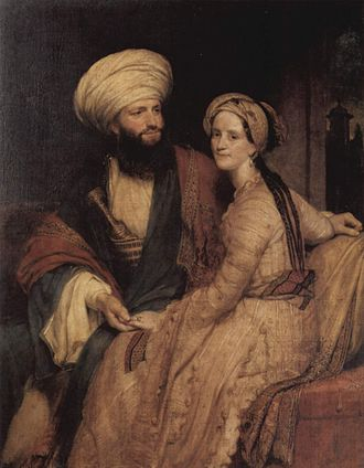Henry William Pickersgill - James Silk Buckingham and his Wife in Arab Dress, 1816