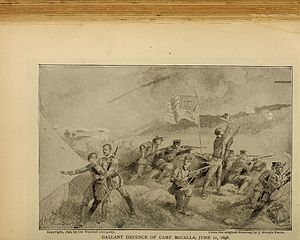Battle of Guantánamo Bay - Gallant defense of Camp McCalla, June 11