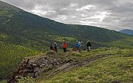 Hikers overlooking confluence of Firth River and Joe Creek, Ivvavik National Park, YT.jpg