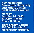 Hillary Clinton rally with Elizabeth Warren October 24.jpg