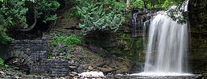 English: Hilton Falls and mill ruins, Hilton F...