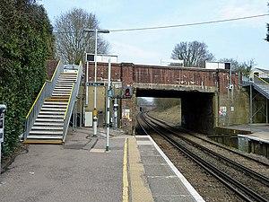 Holmwood railway station - Image: Holmwood station on the up platform geograph.org.uk 2308645