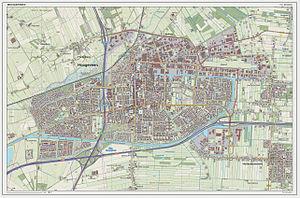 Hoogeveen - Dutch Topographic map of Hoogeveen (town), March 2014