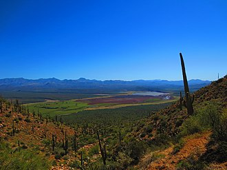 Mazatzal Mountains - Image: Horseshoe Reservoir on Verde River