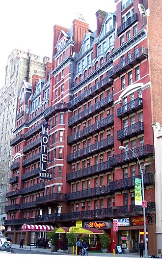 Melissa Auf der Maur - Auf der Maur's brief project The Chelsea was named after the Hotel Chelsea in New York (pictured in 2010)