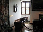 Houten badkuip kasteel van gaasbeek